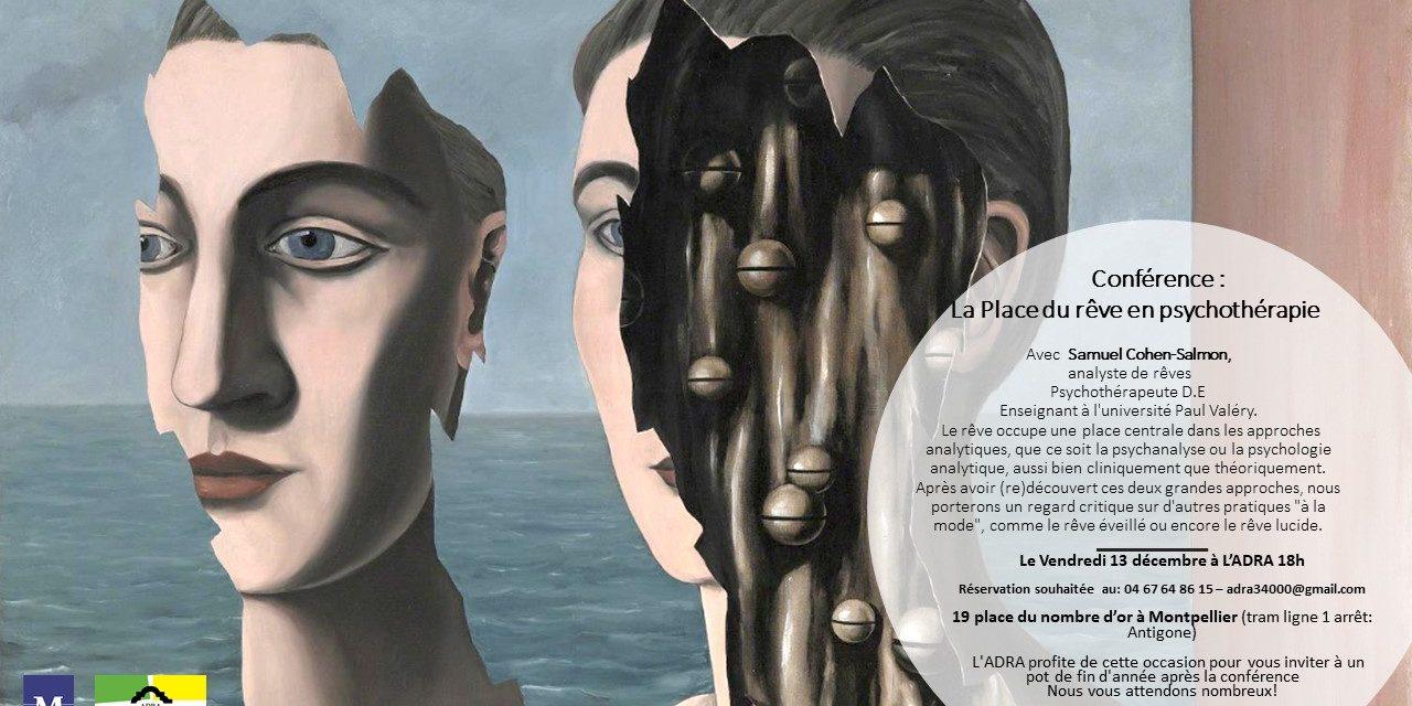 Conférence «la place du rêve en psychothérapie» le 13 décembre