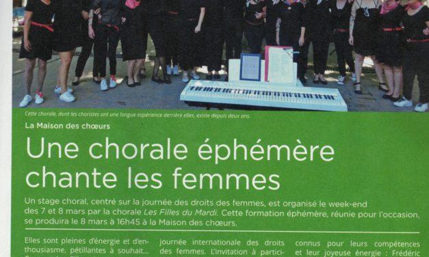 Les filles du mardi dans le magazine :Montpellier notre ville
